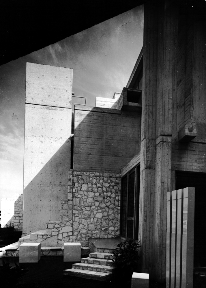 The Hotel Kristal, a dramatic orchestration of exposed concrete and  natural stone, drawing on the architectural languages of Structuralism  and the regional vernacular, 1970. Photo © CCN Images, Zagreb.