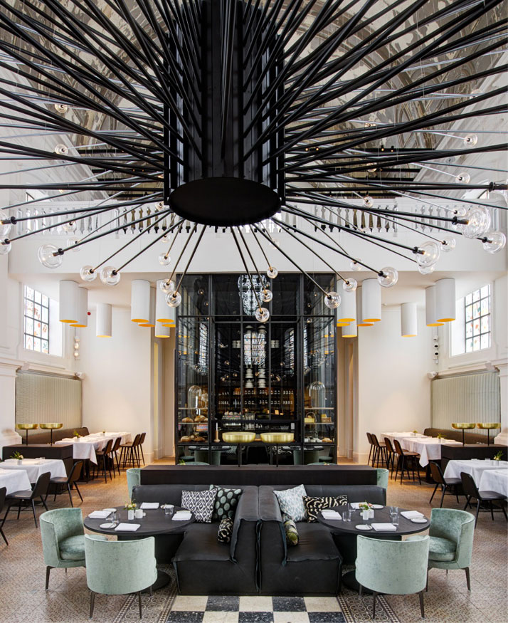 The Jane Restaurant Church Restaurant Chandelier  At 'The Jane' Restaurant, food is religion, by Piet Boon Studio 4 Piet Boon The Jane Restaurant Antwerp yatzer