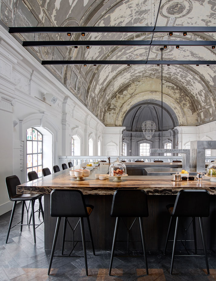 The Jane Restaurant Church Restaurant  Kitchen  At 'The Jane' Restaurant, food is religion, by Piet Boon Studio 6 piet Boon The Jane Restaurant Antwerp yatzer