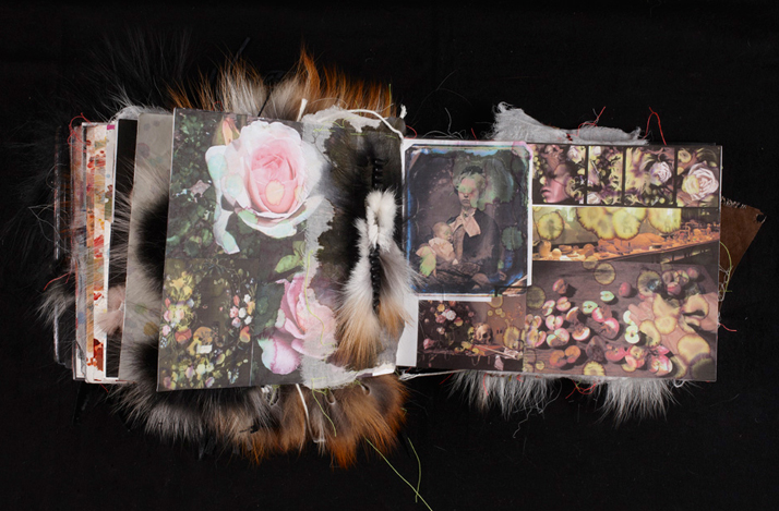 Vanitas / Sketchbook with textile studies made for Saga Furs, 2009Photographer Michael Daugaard