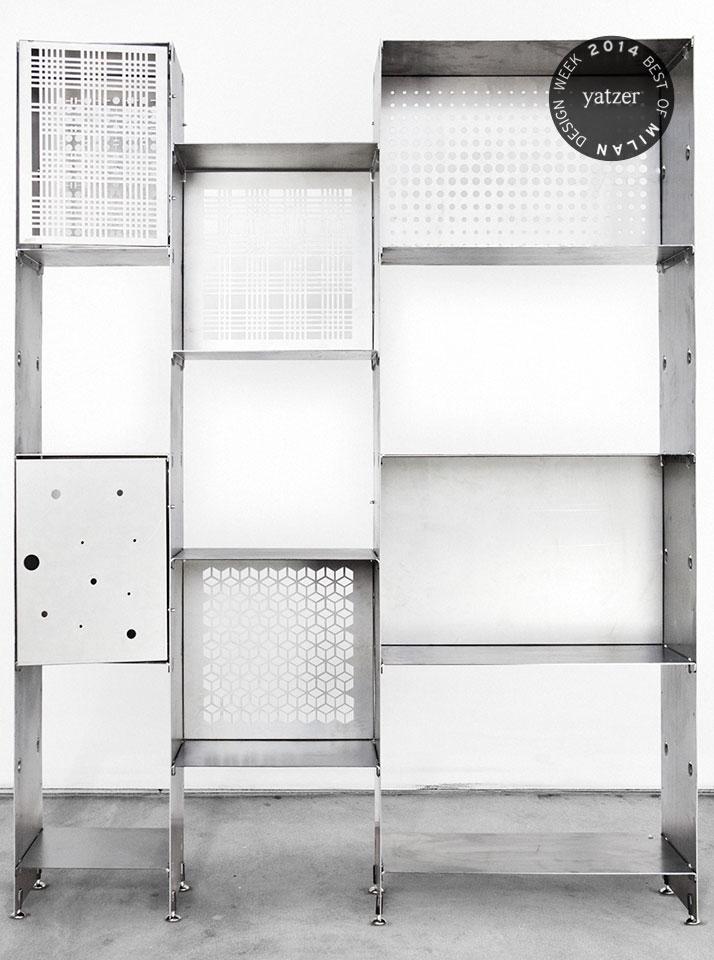 Prima Steel Bookshelf By Officine Tamborrino