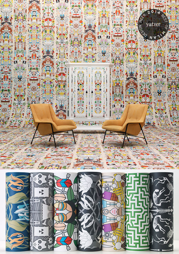 Drawing Inspiration And Designs From Their Graphic Archives Studio Jobs Designers Job Smeets Nynke Tynagel Have Created Seven New Wallpaper Patterns