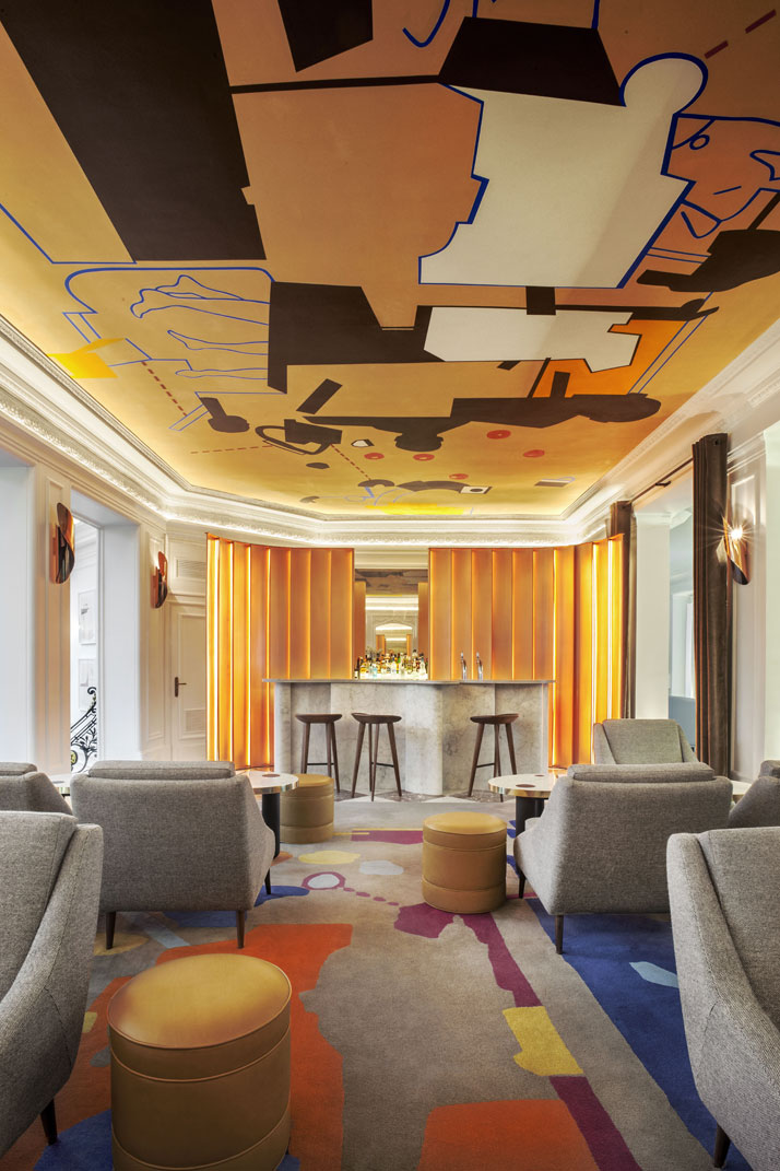The refurbished h tel vernet in paris by fran ois for Hotel design paris 6