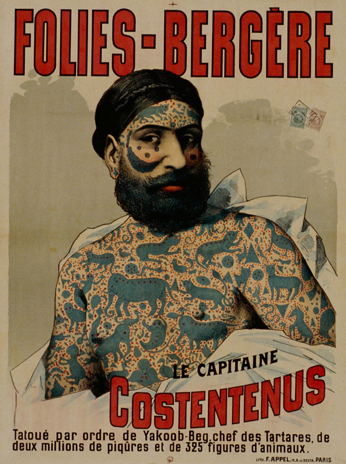 Captain Costentenus tatooed by order of Yakoob-Beg, 19th century © Fonds Dutailly, Ville de Chaumont.