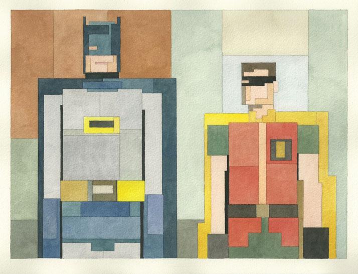 Batman & Robin. © Adam Lister.