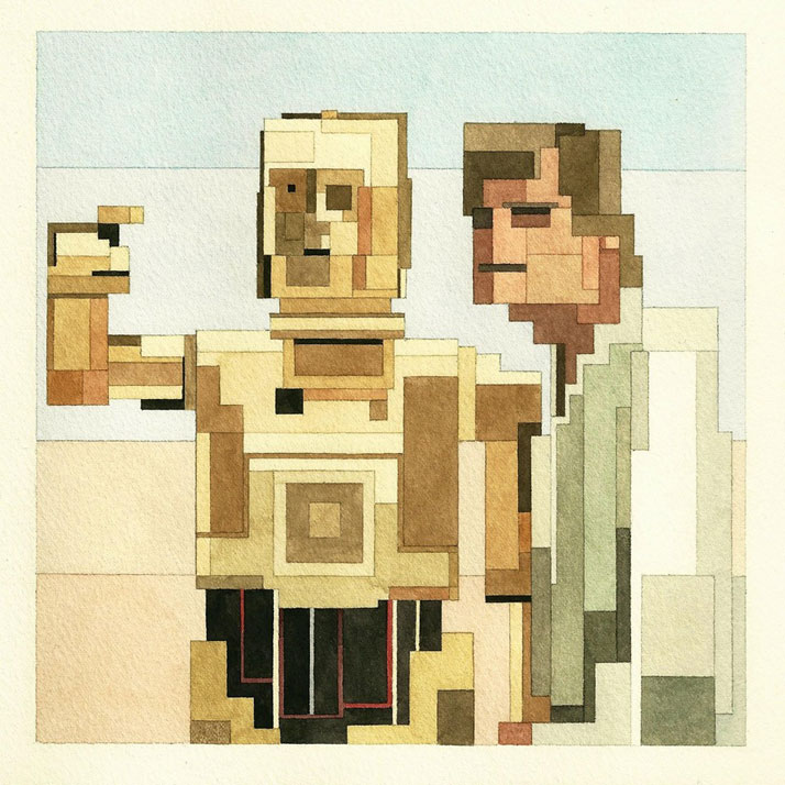 Luke Skywalker and C-3PO. © Adam Lister.