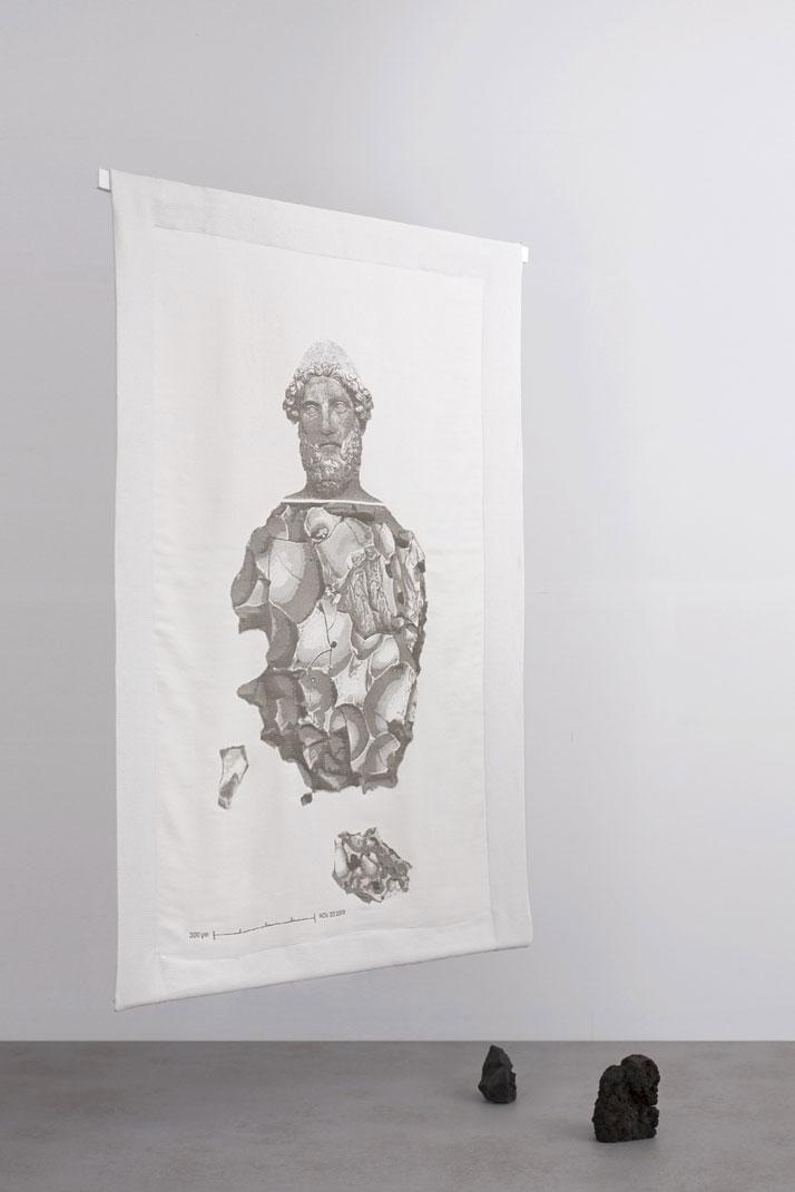 Efesto, 2014Basalt fibre, cotton.H190 x W120 cm'De Natura Fossilium' by studio Formafantasma.Photo by Luisa Zanzani. Courtesy of Gallery Libby Sellers.