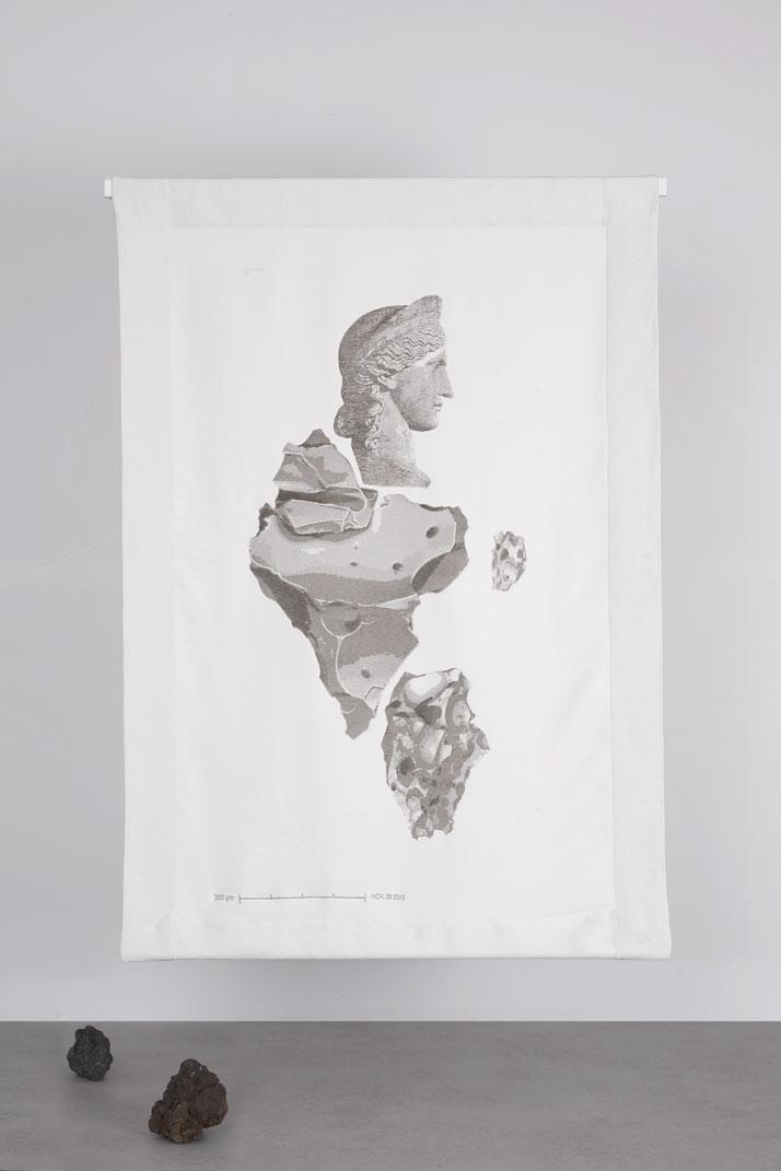 Athena, 2014Basalt fibre, cotton.H190 x W120 cm'De Natura Fossilium' by studio Formafantasma.Photo by Luisa Zanzani. Courtesy of Gallery Libby Sellers.
