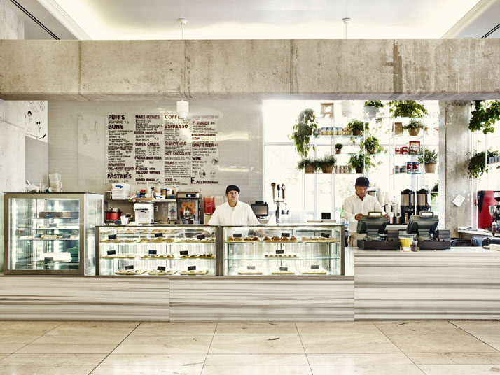The café, photo by Adrian Gaut, © The Line Hotel, L.A.