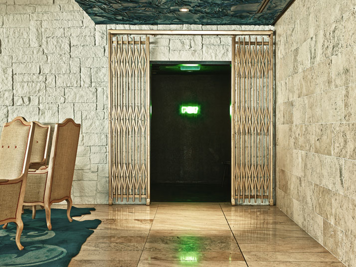 The entrance of the POT restaurant, photo by Adrian Gaut, © The Line Hotel, L.A.