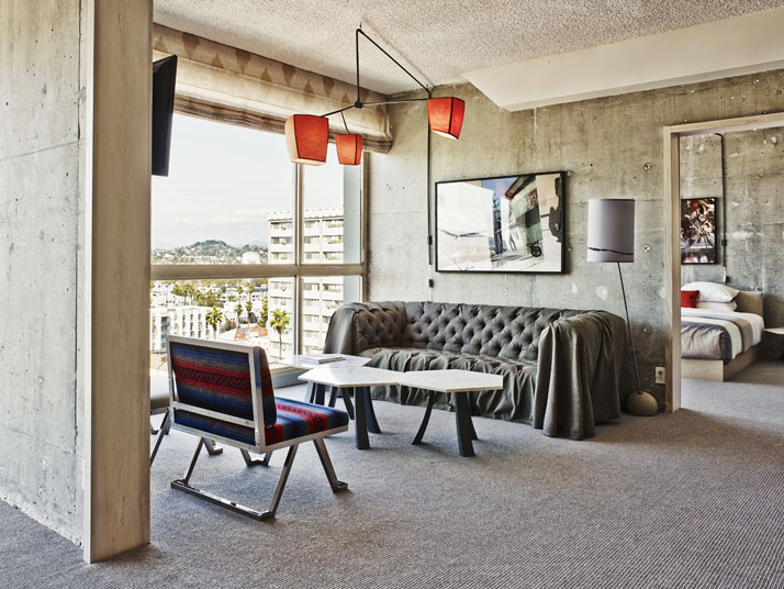 Hollywood Hills Apt Suite, photo by Adrian Gaut, © The Line Hotel, L.A.