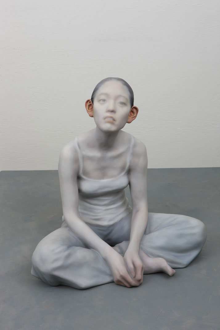 Choi Xooang, Listener, 2011Oil on Resin -  58 × 50 × 58 cmCourtesy of the artist & Galerie Albert Benamou, Paris