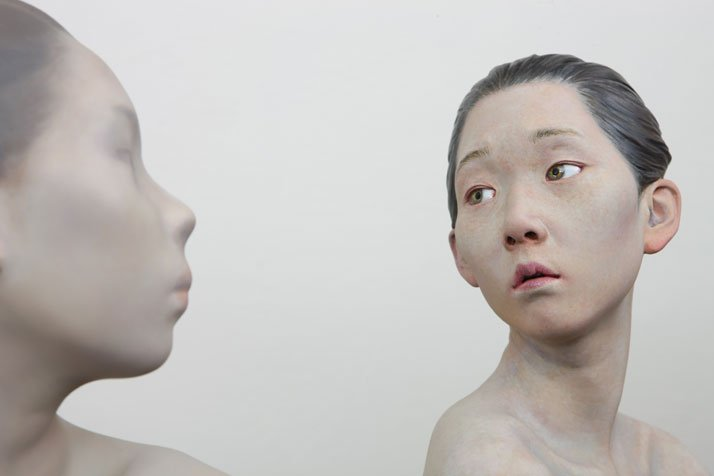 Choi Xooang, Reflection, 2012 (detail)Oil on Resin -  82 × 52 × 87 cmCourtesy of the artist & Galerie Albert Benamou, Paris