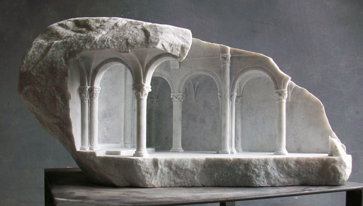 Matthew Simmonds, Basilica III, Carrara marble 2010, height 29cmphoto © Matthew Simmonds.