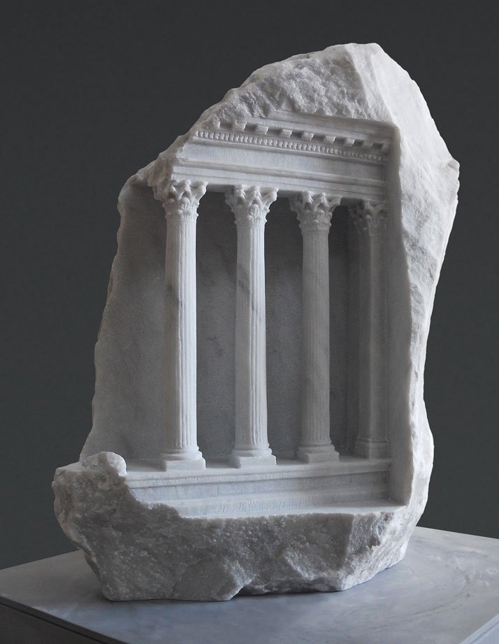 Matthew Simmonds, Mars Ultor, Carrara marble 2011, Height 41cmphoto © Matthew Simmonds.