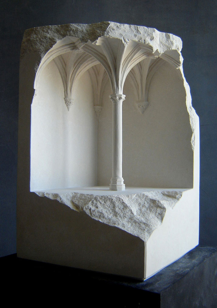Matthew Simmonds, Vaulted Space, Limestone 2008, height 39cmClient: Mastercard, Romephoto © Matthew Simmonds.