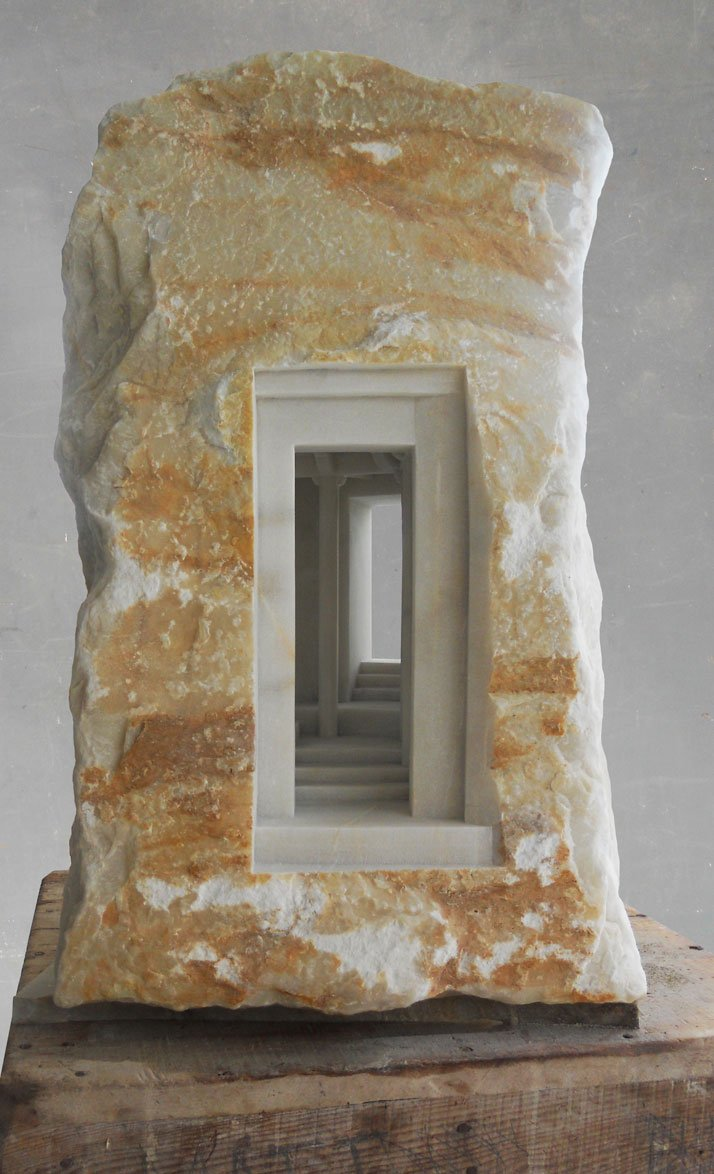 Matthew Simmonds, Trilogy 2010 Carrara marble, max. height 80cm Commissioned for the head offices of Swire Properties, Hong Kong.photo © Matthew Simmonds.