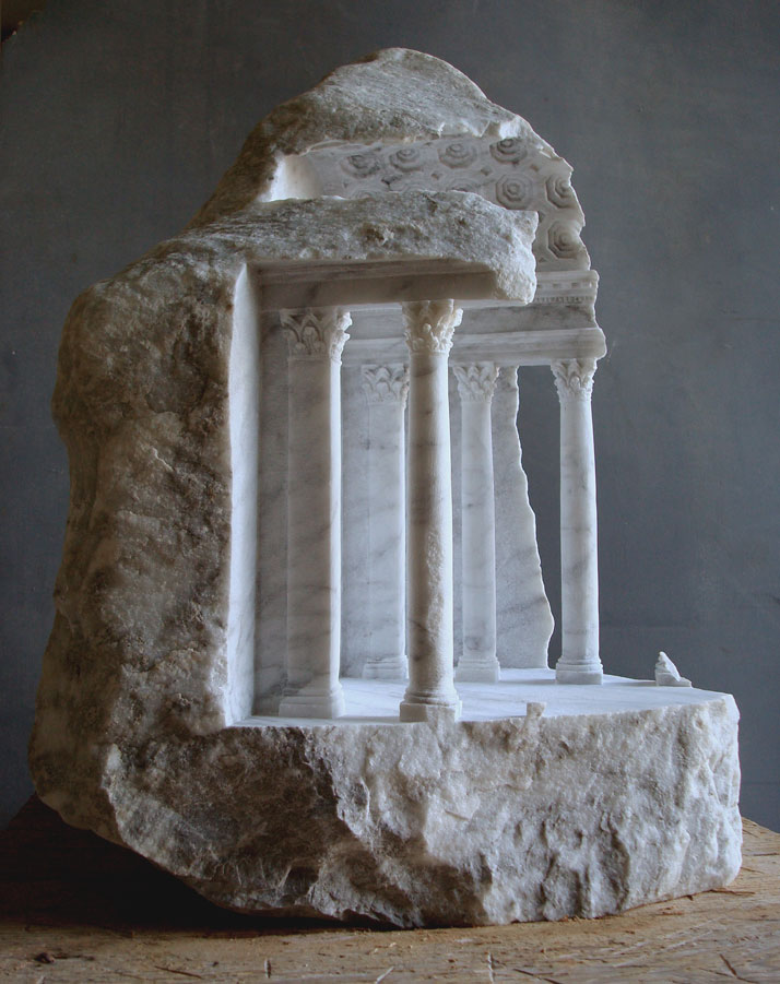 Matthew Simmonds,Basilica II 2007 Carrara marble, 56 X 39 X 38cmphoto © Matthew Simmonds.