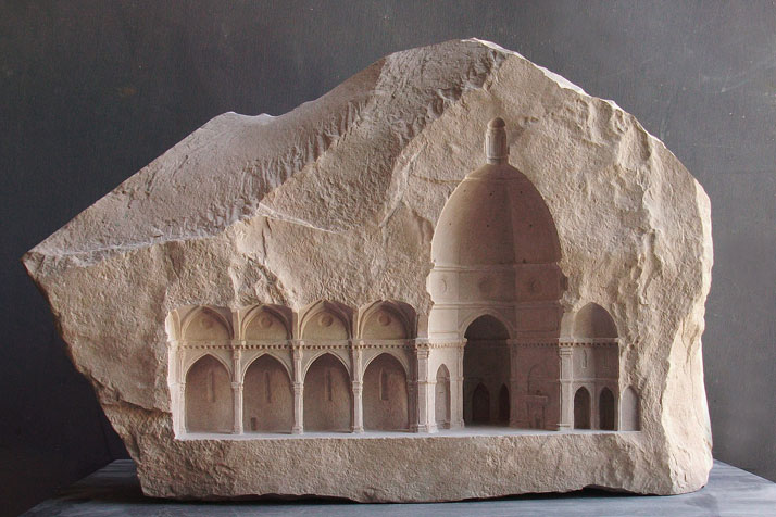 Matthew Simmonds, Elevation V: Santa Maria del Fiore, Firenze 2010 limestone, 60 X 13 X 37cmphoto © Matthew Simmonds.