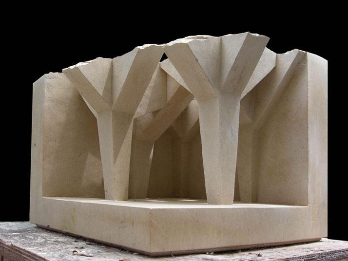 Matthew Simmonds, Essay in Form and Light 2008 limestone, 42 X 40 X 36cmphoto © Matthew Simmonds.