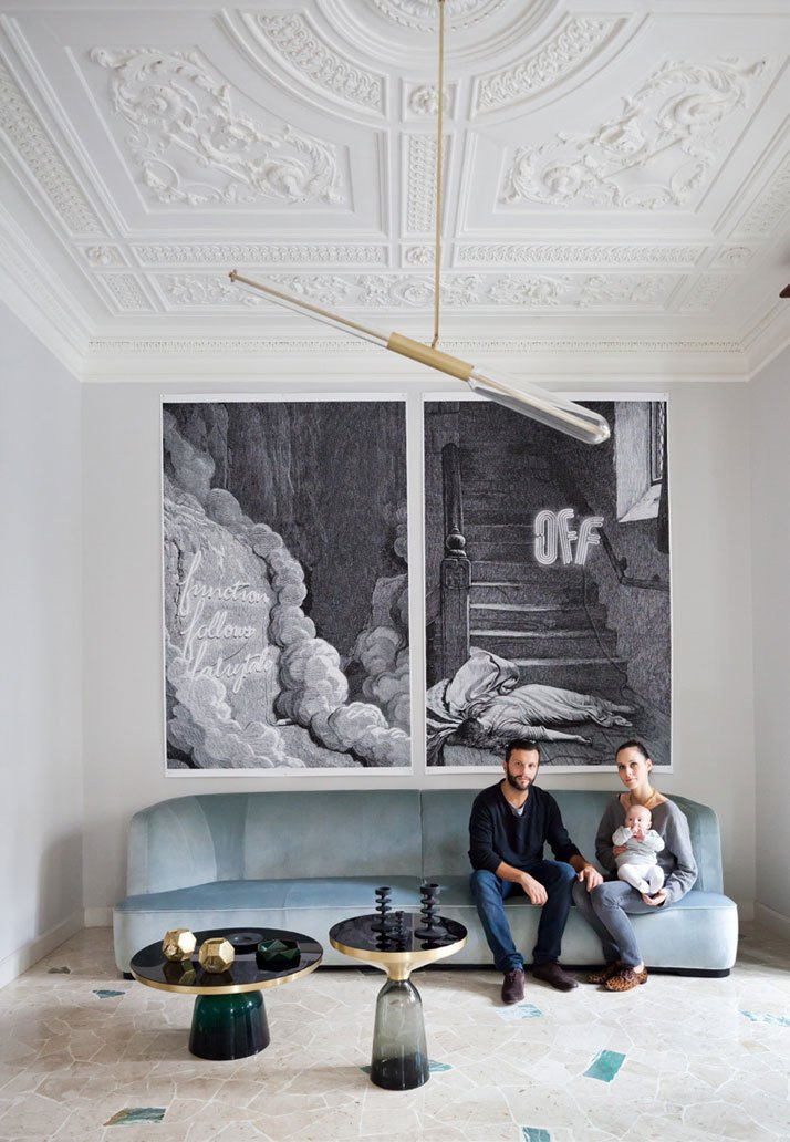 House of Adriano and Silvia in Milan, Design by Pietro Russo, Photography: Filippo Bambhergi, from The Chamber of Curiosity,Copyright Gestalten 2014.