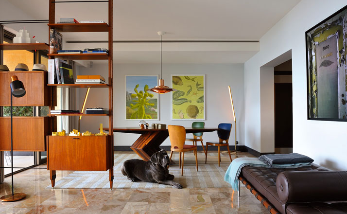 1950s-60s Apartment in Monaco, Design by Humbert & Poyet, Photography: Véronique Mati, from The Chamber of Curiosity,Copyright Gestalten 2014. Home of Jean-Christophe Aumas, Design by Jean-Christophe Aumas, Photography: Helenio Barbetta, Didier Delmas, from The Chamber of Curiosity,Copyright Gestalten 2014.