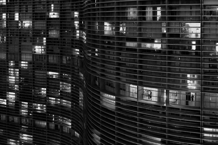 The Copan Building (Detail at Night), São Paulo, 2011. Photo © Olaf Heine.