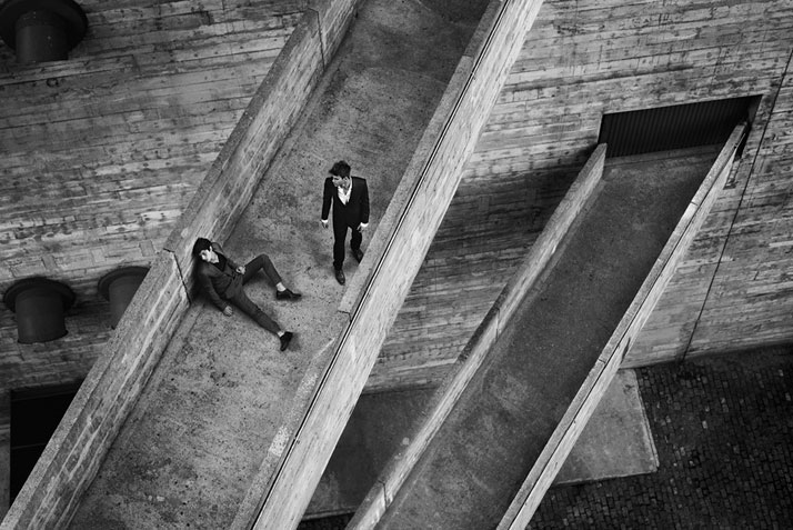 Two Men on the Ramps of the SESC Building, São Paulo, 2011. Photo © Olaf Heine.