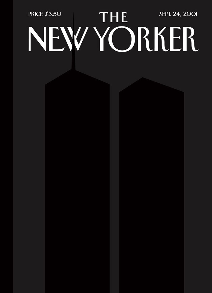 The New Yorker 9/11/2001 cover by Art Spiegelman and Françoise Mouly, September 24, 2001.