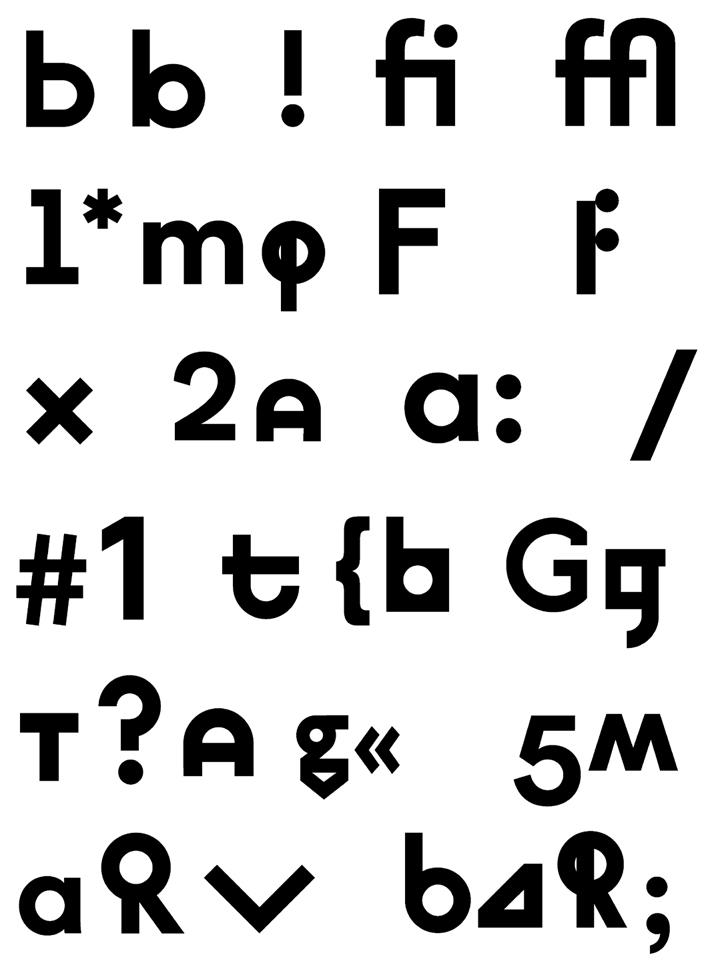 Typeface designed by L2M3 for The Bauhaus-Archiv Museum für Gestaltung, © The Bauhaus.
