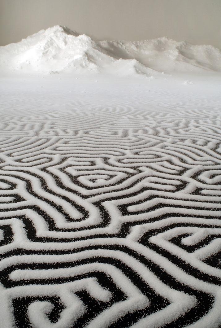 Motoi Yamamoto, LabyrinthSalt, 4x12mMaking MendsBellevue Arts Museum, USA2012