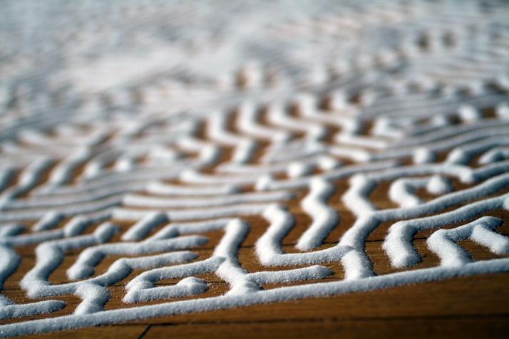 Motoi Yamamoto, ULabyrinthSalt, 17x12mMOT ANNUAL 2010; Neo-Ornamentalism from Japanese Contemporary ArtMuseum of Contemporary Art Tokyo,, Japan2010Photo by Em Yamaguchi