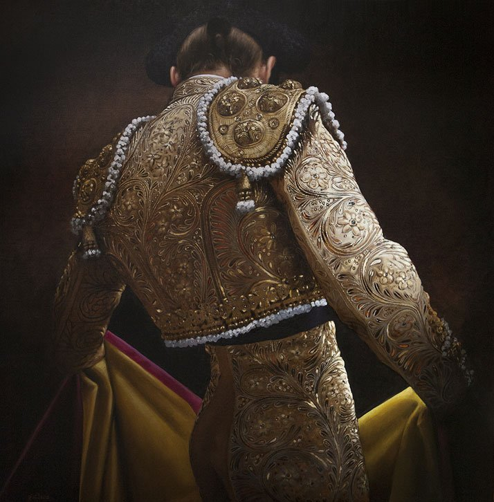 'Ivory and Gold Suit' by Christian Gaillard.Photo Courtesy of the artist and Connoisseur Art Gallery.