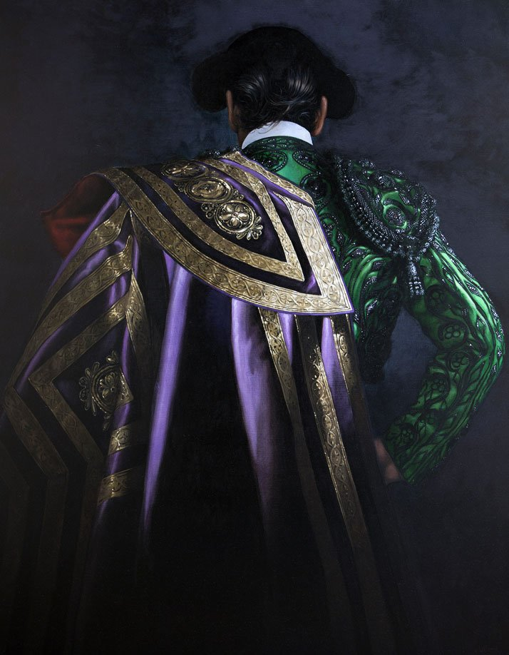 'Matador in Emerald and Violet' by Christian Gaillard.Photo Courtesy of the artist and Connoisseur Art Gallery.