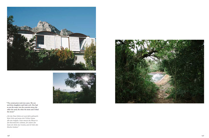 (book spread) Gwen & Gawie Fagan, Landscape Planner & Architect / Cape Town, South Africa, photo by Antonia Heil and Desmond Louw.Courtesy of Freunde von Freunden: Friends.