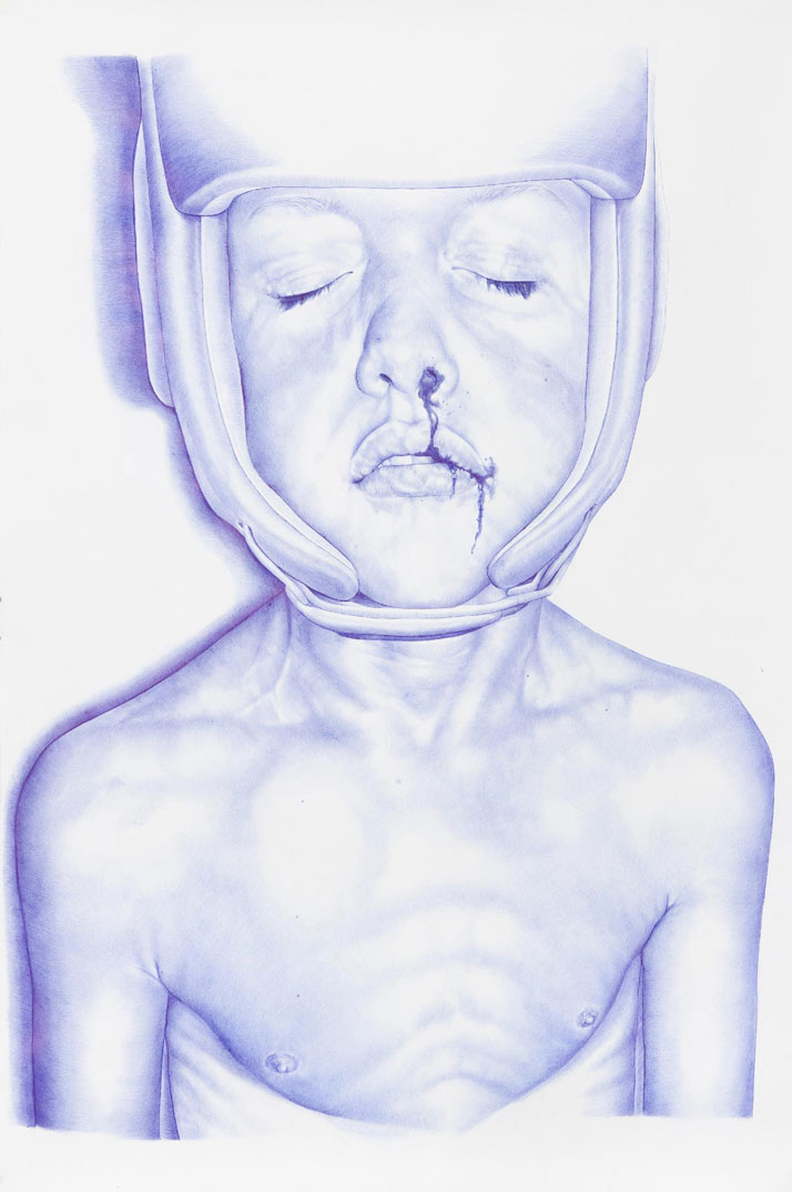 Ralph, 2013Blue BIC pen on paper105 cm x 150 cmPrivate collection, Switzerland ©2015 THE KID - All rights reserved. Courtesy the artist.