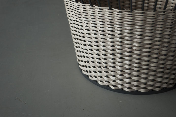 Meet the wicker, basket made from a steel skeleton (square metal ribs) with woven wicker. © Chudy and Grase.AWARDS: Product design of the year 2014 (Latvia) | Best product prototype 2014 (Latvia).