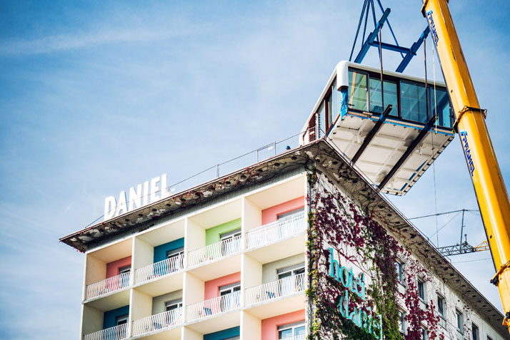 The new loftcube on the rooftop of hotel daniel in graz for Designhotel graz