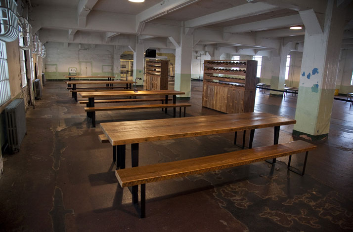 Ai Weiwei, Yours Truly, 2014 (installation view, Alcatraz Dining Hall); photo: Jan Stürmann.