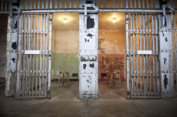 Ai Weiwei, Stay Tuned, 2014 (installation detail, A Block, Alcatraz); photo: Jan Stürmann.