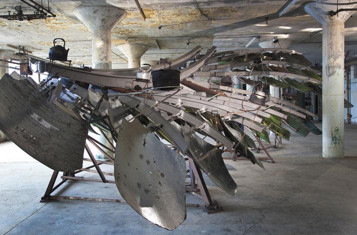 Ai Weiwei, Refraction, 2014 (installation view, New Industries Building, Alcatraz); photo: Jan Stürmann.