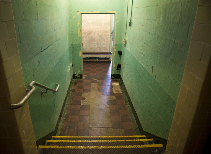 Entrance to the psychiatric observation rooms, site of Ai Weiwei's Illumination, Alcatraz Hospital; photo: Jan Stürmann.