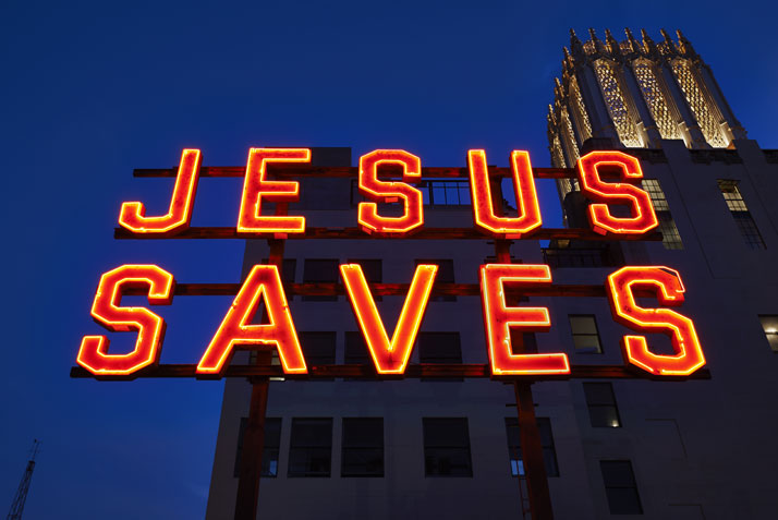 Jesus Saves. Photo by Spencer Lowell.