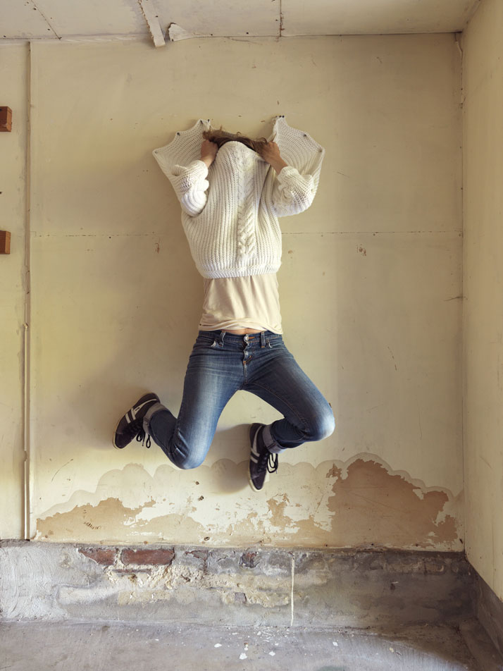 Screwed to the Wall, 2014; c-print, 25'' x 34''. Courtesy of Lee Materazzi.