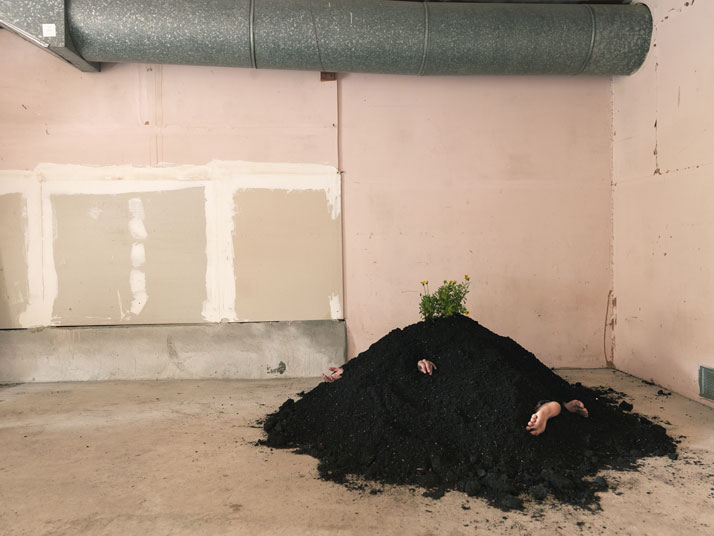 Buried in my Garage, 2014; c-print, 34'' x 46''. Courtesy of Lee Materazzi.