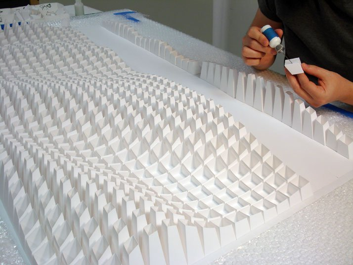 Process of making Swire, 2013; paper 36 x 52 x 5 inches. Photo courtesy of Matt Shlian.