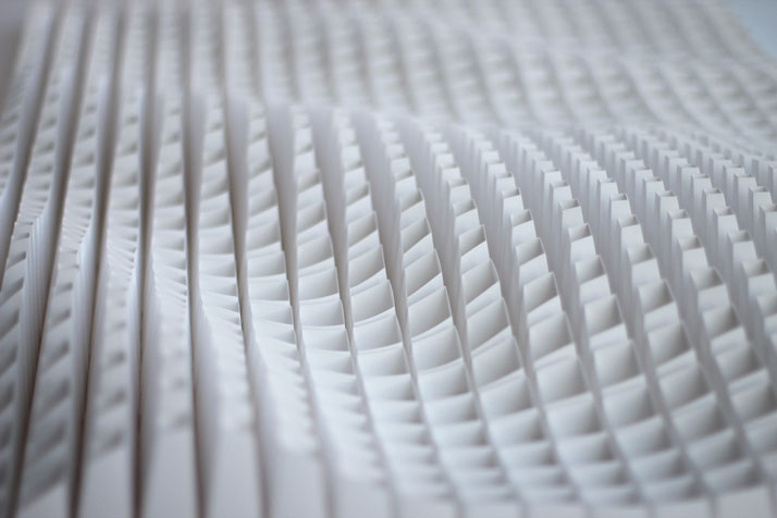 Swire (detail), 2013; paper 36 x 52 x 5 inches. Photo courtesy of Matt Shlian.