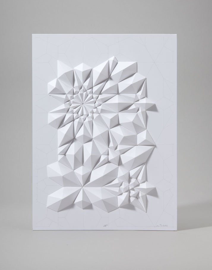 Tesselation Series, 2011; paper 8 1/2 x 11 x 1/2 inches. Photo courtesy of Matt Shlian.