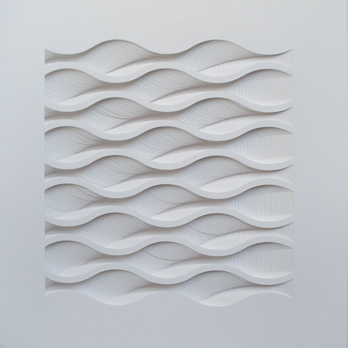 Sleeper, 2013; paper 8 1/4 x 8 1/4 x 1/4 inches. Photo courtesy of Matt Shlian.