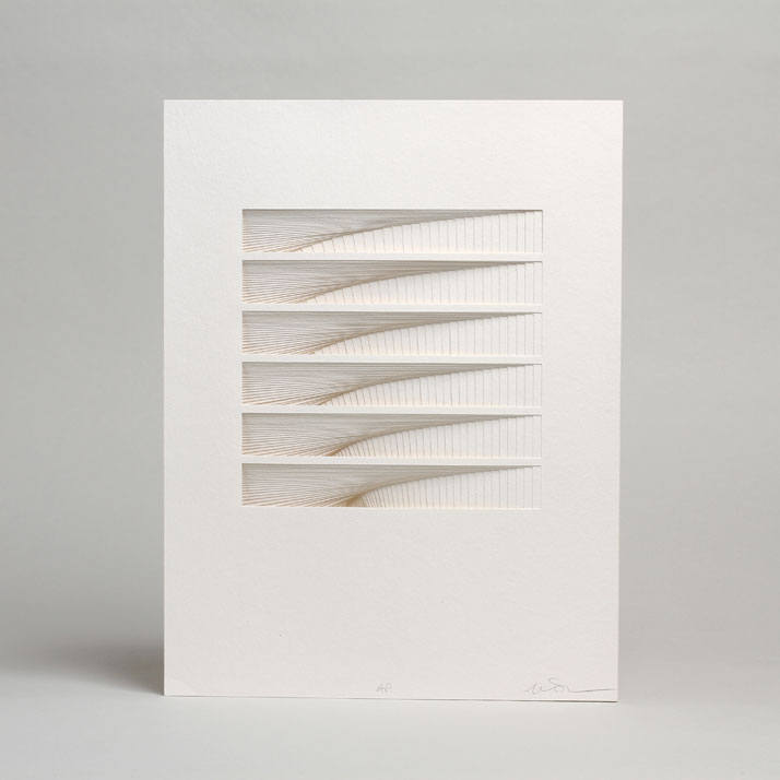 ORBIT, from Process Series 2, 2013; paper 8 x 11 x 1/2 inches. Photo by Cullen Stephenson.